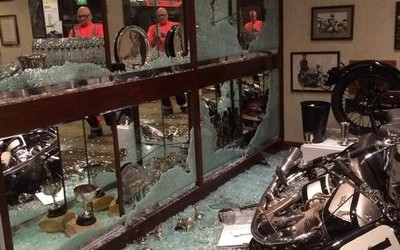 Priceless trophies snatched in robbery at National Motorcycle Museum