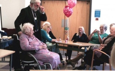 Hospital marks Minnie's momentous birthday with special tea party
